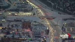 Calgary roads slow and slippery Tuesday