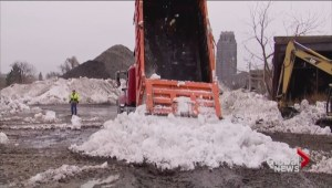Buffalo residents anxiously waiting for massive snow drifts to melt