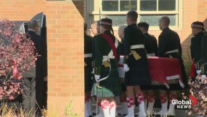 Casket carrying body of Cpl. Cirillo departs funeral home