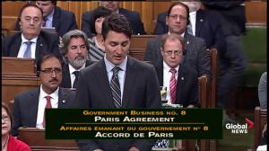 Prime Minister Trudeau outlines his reasons for implementing a carbon pricing scheme