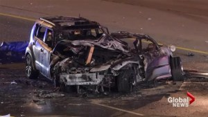 Police investigating fiery collision in Brampton after 4 people died