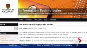 Network issues at University of Calgary