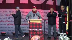 Redblacks head coach Rick Campbell thanks 'the best fans' in the CFL