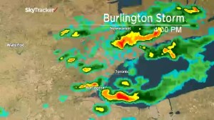 Radar timelapse of massive storm that hit Burlington