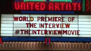 """No red carpet at """"The Interview"""" premiere after Sony leaks"""