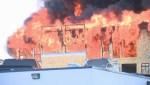 WATCH: Fire crews battle massive fire south of downtown