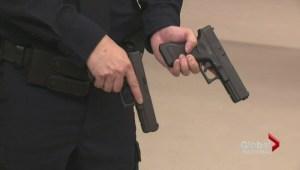Edmonton police educate youth on fake guns dangers