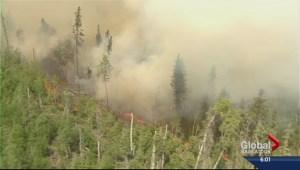 Premier tours wildfire zone in northern Saskatchewan
