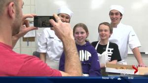 Culinary arts students and Kids With Cancer team up to make pizza