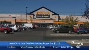 Lowe's to buy Quebec-based RONA for $3.2B
