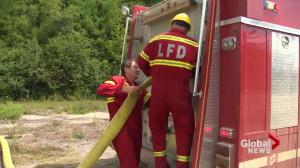 Volunteer Firefighters on the front line of wildfires