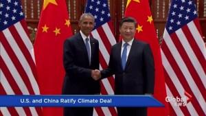 U.S., China ratify landmark Paris climate agreement