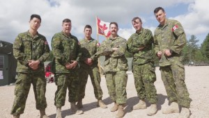 Canadian soldiers in Latvia send messages home for Canada Day