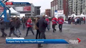 Montreal Canadiens fan jam underway