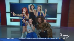 "Spice Girls tribute band performs the girl group's hit ""Wannabe"""