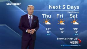 Edmonton early morning weather forecast: Thursday, July 13, 2017
