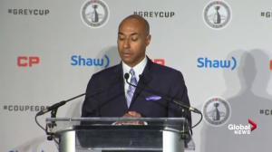 CFL Commissioner Jeffrey Orridge makes his pitch to potential new fans of Canadian Football