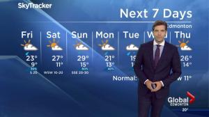 Edmonton Weather Forecast: August 18