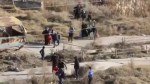 Civilians flee Aleppo neighbourhood of Sakhour by the hundreds amid renewed fighting