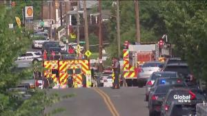 Massive emergency response following shooting in Alexandra, Virginia