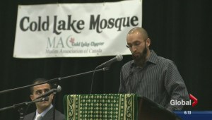 Cold Lake community gathers one month after mosque vandalism