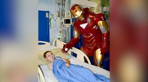 Meet the Texas officer who dresses up as a superhero for kids with cancer