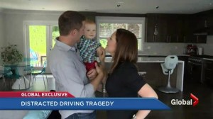 Couple impacted by a distracted driver calling for tougher penalties