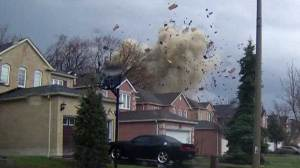 Raw Video: Scarborough home explosion caught on camera