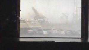 Caught on camera: tornado winds flatten Starbucks in Indiana
