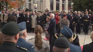 'O Canada' rings out at War Memorial in Ottawa