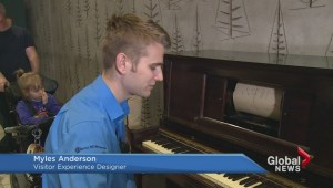 Historic player piano now museum piece
