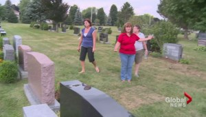 Grave robbery caught on video in London, Ontario