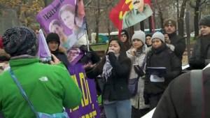 Montrealers denounce violence against women