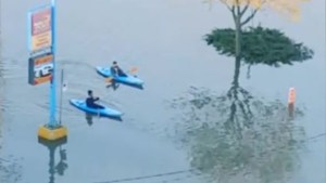 Quebec floods: 'Kayaking…that's the only way to get out of here'