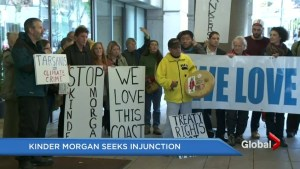 Protestors and Kinder Morgan in court battle over Burnaby pipeline