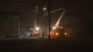RAW: Storm forces crews to cut power in coastal MA town