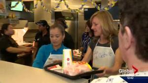 Global Calgary helps out at McHappy day