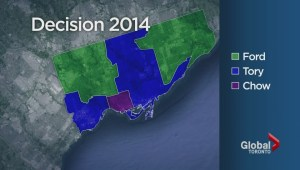 Toronto Election: Which areas voted for which candidates?