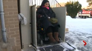 A little bit of snow and ice can be a big burden for the disabled