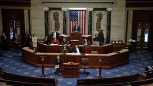 U.S. Congress erupts in boos, healthcare vote cancelled