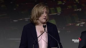 Raitt discusses how she'd work with Trump during Conservative debate