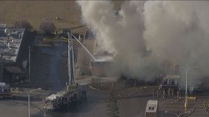 Calgary Fire Department fights huge fire at Stadium Shopping Centre