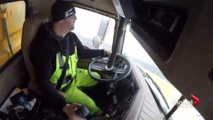 Take a ride inside one of Nova Scotia's largest snowplows