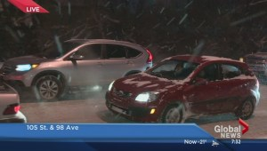 Treacherous road conditions for Edmonton drivers