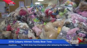 Calgary Hitmen Teddy Bear Toss donations ready for kids