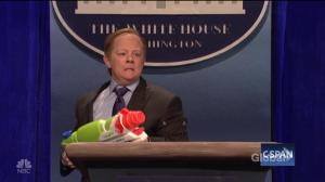 Melissa McCarthy delivers over-the-top impression of White House press secretary Sean Spicer on SNL