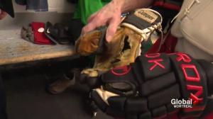 New hockey gloves