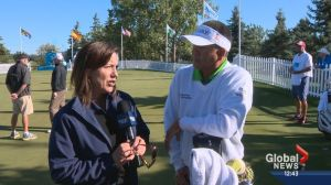 Global's Leslie Horton with Esteban Toledo