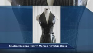 Emily Carr student redesigns iconic Marilyn Monroe dress using filmstrips