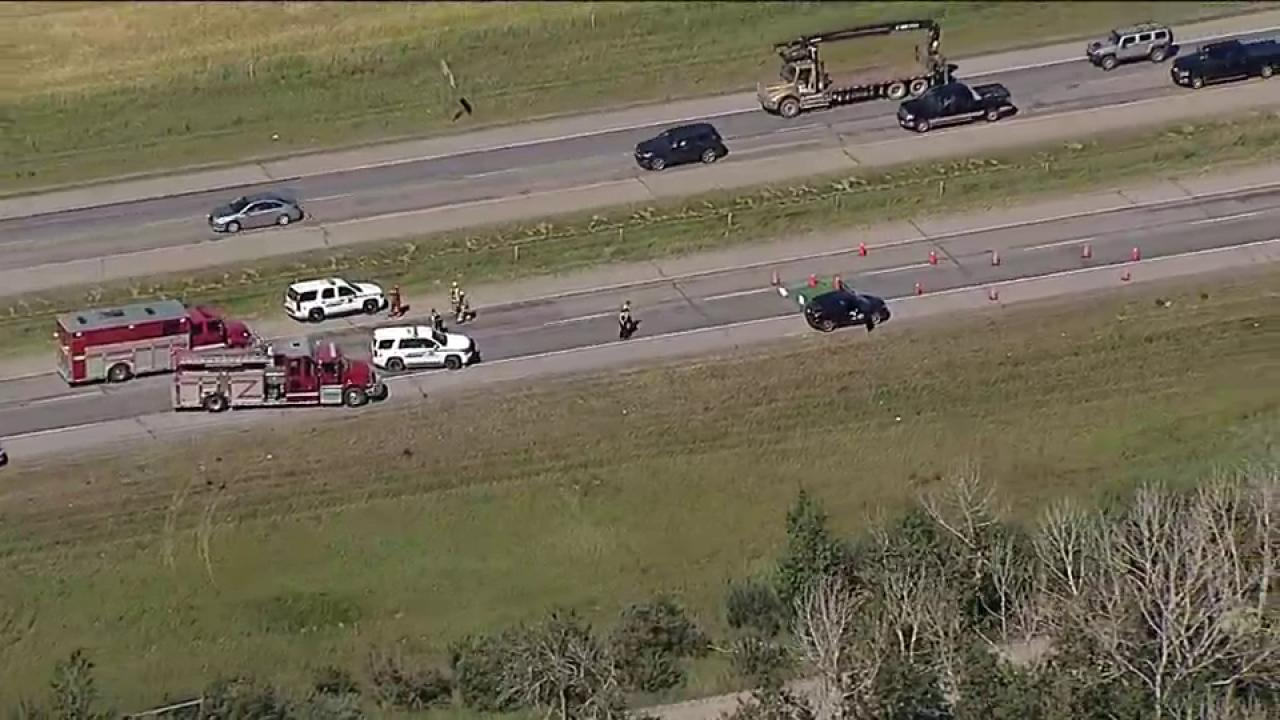 Pedestrian killed by semi truck on Highway 2